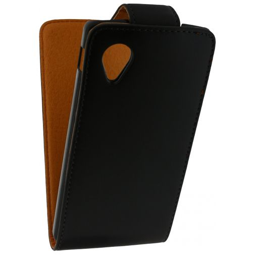 Xccess Leather Flip Case Black LG Nexus 5