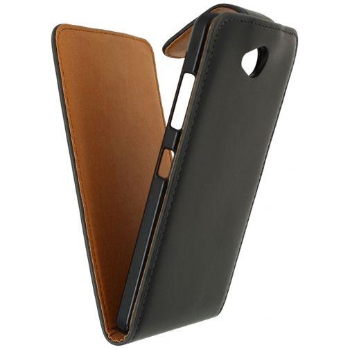Xccess Leather Flip Case Black Microsoft Lumia 650