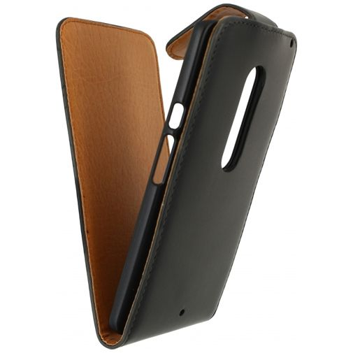 Xccess Leather Flip Case Black Motorola Moto X Play