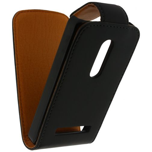 Xccess Leather Flip Case Black Nokia Asha 210