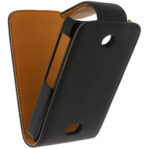 Xccess Leather Flip Case Black Nokia Asha 501