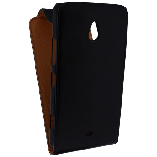 Productafbeelding van de Xccess Leather Flip Case Black Nokia Lumia 1320