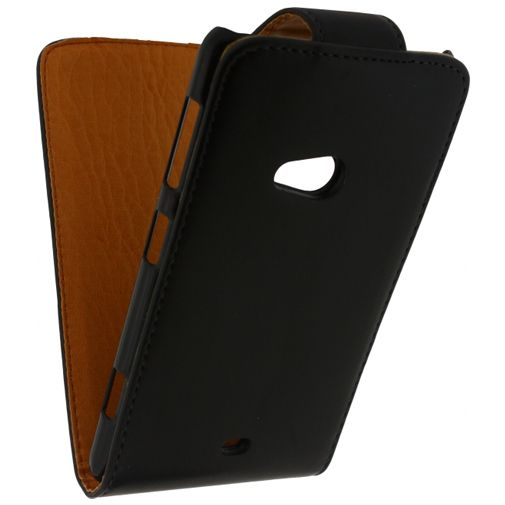 Xccess Leather Flip Case Black Nokia Lumia 625
