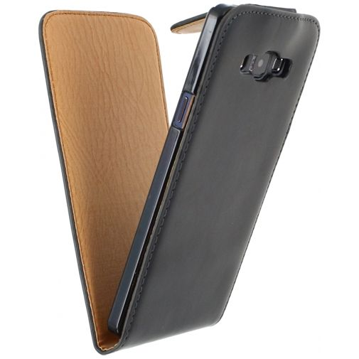 Productafbeelding van de Xccess Leather Flip Case Black Samsung Galaxy A7