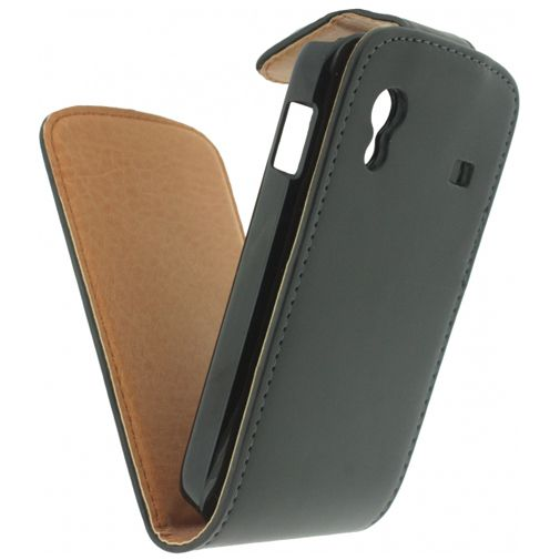 Productafbeelding van de Xccess Leather Flip Case Black Samsung Galaxy Ace S5830