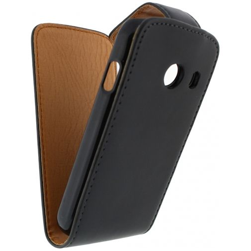 Xccess Leather Flip Case Black Samsung Galaxy Ace Style