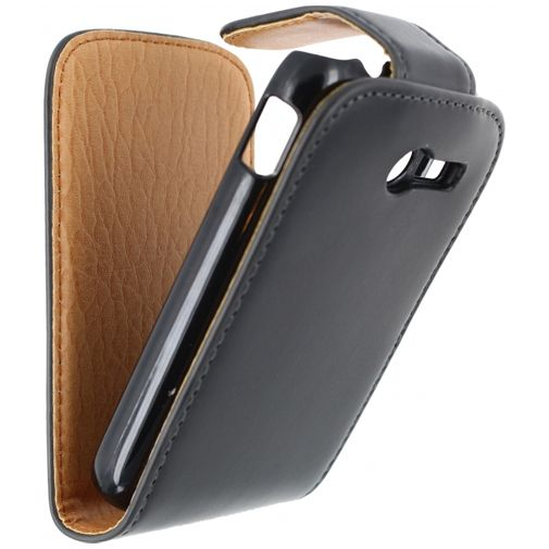 Productafbeelding van de Xccess Leather Flip Case Black Samsung Galaxy Pocket 2