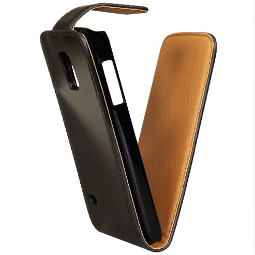 Xccess Leather Flip Case Black Samsung Galaxy S5 Mini