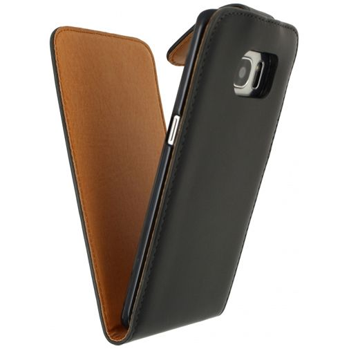 Xccess Leather Flip Case Black Samsung Galaxy S7 Edge