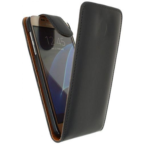 Xccess Leather Flip Case Black Samsung Galaxy S7