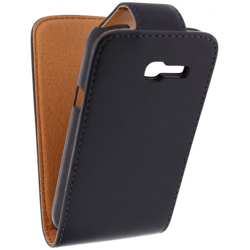 Xccess Leather Flip Case Black Samsung Galaxy Trend Lite S7390
