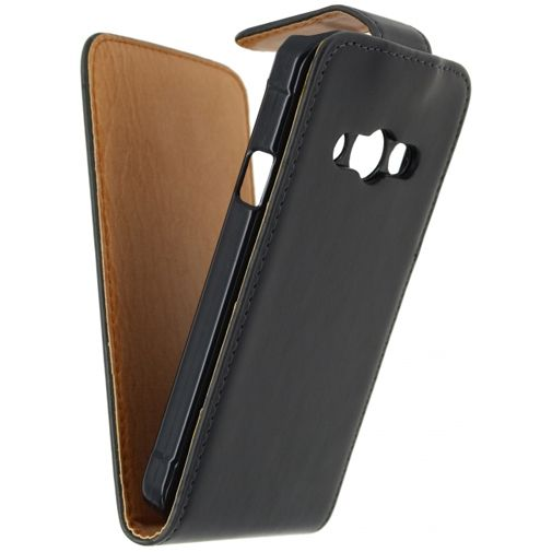 Productafbeelding van de Xccess Leather Flip Case Black Samsung Galaxy Xcover 3 (VE)