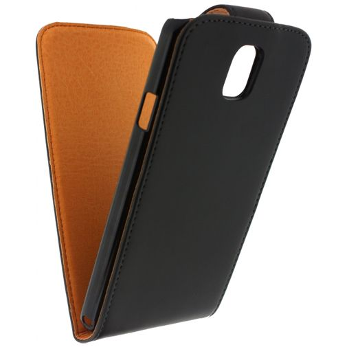 Productafbeelding van de Xccess Leather Flip Case Black Samsung Note 3 Neo