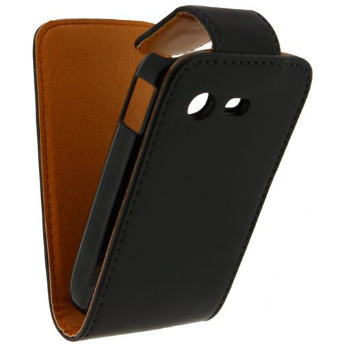 Xccess Leather Flip Case Black Samsung S5280 Galaxy Star