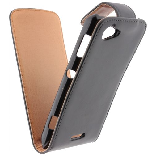 Xccess Leather Flip Case Black Sony Xperia L