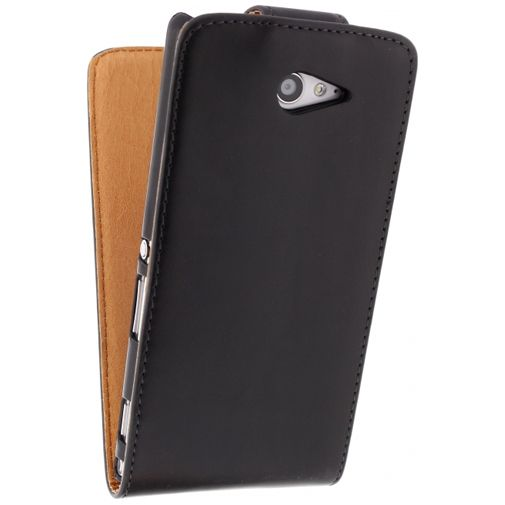 Xccess Leather Flip Case Black Sony Xperia M2