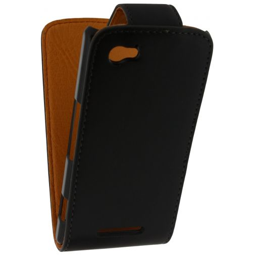 Xccess Leather Flip Case Black Sony Xperia M