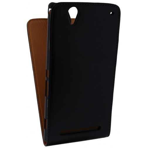 Xccess Leather Flip Case Black Sony Xperia T2 Ultra
