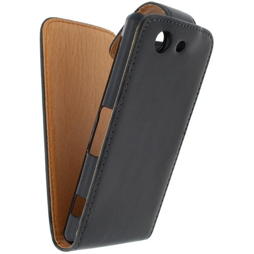 Xccess Leather Flip Case Black Sony Xperia Z3 Compact