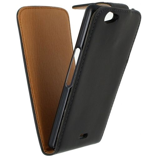 Xccess Leather Flip Case Black Wiko Highway Signs
