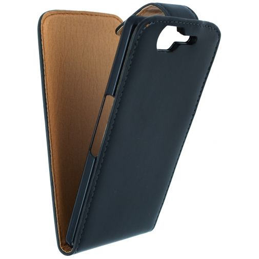 Xccess Leather Flip Case Black Wiko Highway