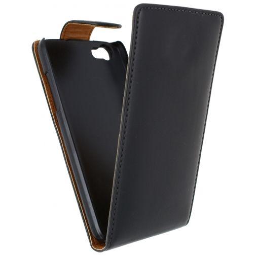 Xccess Leather Flip Case Black Wiko Lenny