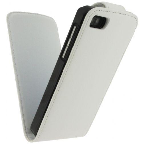 Xccess Leather Flip Case BlackBerry Z10 White