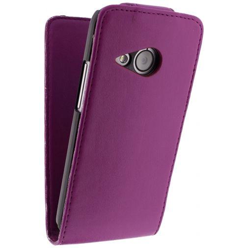 Xccess Leather Flip Case HTC One Mini 2 Purple