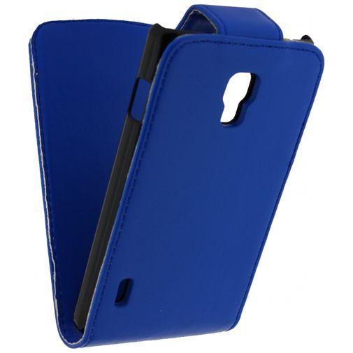 Xccess Leather Flip Case LG Optimus L7 II Blue