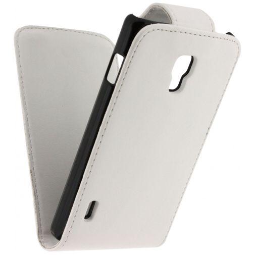 Productafbeelding van de Xccess Leather Flip Case LG Optimus L7 II White