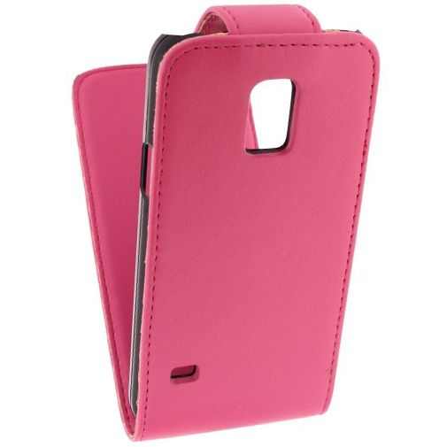 Xccess Leather Flip Case Pink Samsung Galaxy S5 Mini