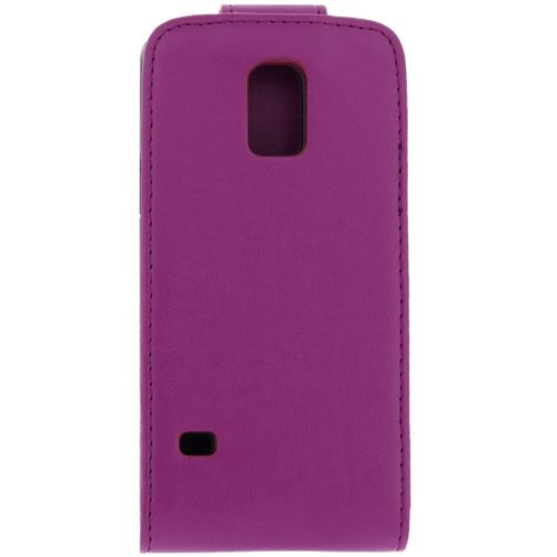Xccess Leather Flip Case Purple Samsung Galaxy S5 Mini