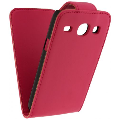 Xccess Leather Flip Case Samsung Galaxy Core Pink