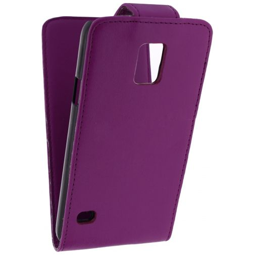 Productafbeelding van de Xccess Leather Flip Case Purple Samsung Galaxy S5/S5 Plus/S5 Neo