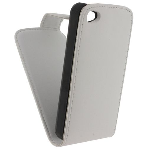 Xccess Leather Flip Case White Apple iPhone 4/4S