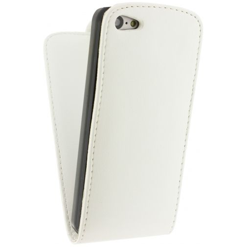Xccess Leather Flip Case White Apple iPhone 5C