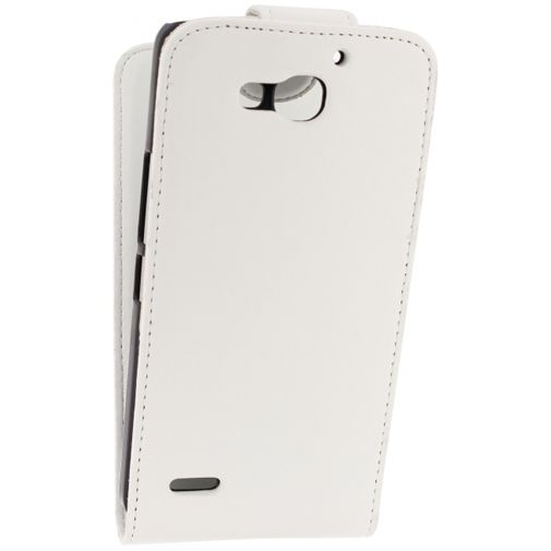 Productafbeelding van de Xccess Leather Flip Case White Huawei Ascend G750