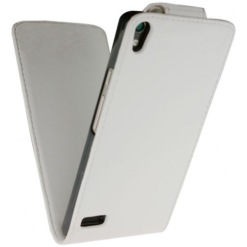 Xccess Leather Flip Case White Huawei Ascend P6