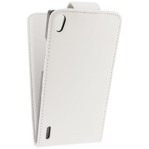 Xccess Leather Flip Case White Huawei Ascend P7