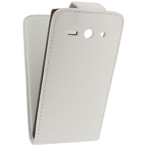 Xccess Leather Flip Case White Huawei Ascend Y530