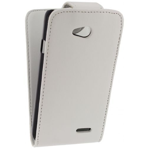 Xccess Leather Flip Case White LG L70