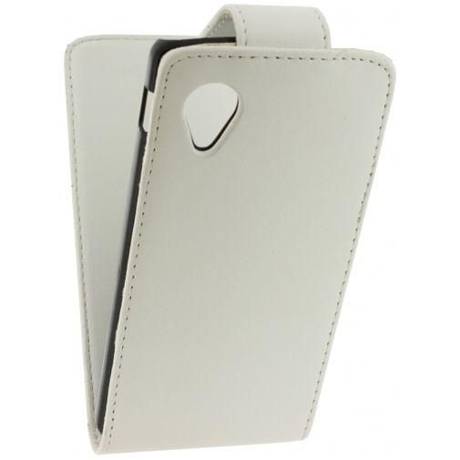 Xccess Leather Flip Case White LG Nexus 5