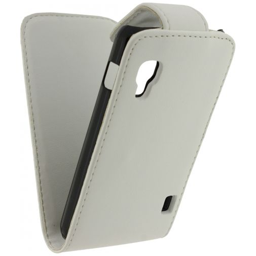 Xccess Leather Flip Case White LG Optimus L5 II E460