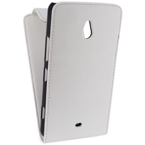 Xccess Leather Flip Case White Nokia Lumia 1320