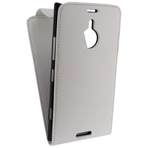 Productafbeelding van de Xccess Leather Flip Case White Nokia Lumia 1520