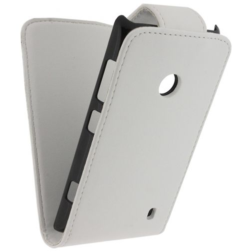 Xccess Leather Flip Case White Nokia Lumia 520