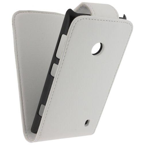 Productafbeelding van de Xccess Leather Flip Case White Nokia Lumia 520