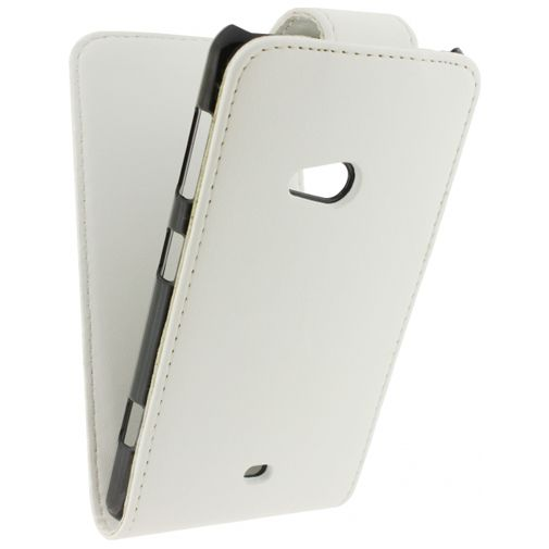 Xccess Leather Flip Case White Nokia Lumia 625