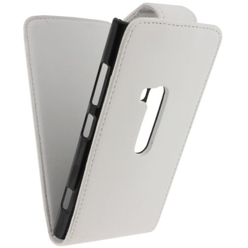 Productafbeelding van de Xccess Leather Flip Case White Nokia Lumia 920