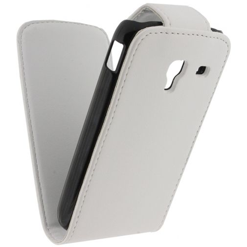 Xccess Leather Flip Case White Samsung Ace 2 i8160